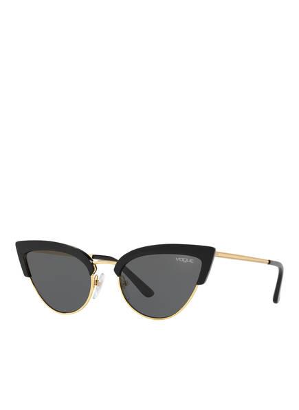 VOGUE Sonnenbrille 0VO5212S, Farbe: W44/87 - SCHWARZ/ GOLD/ GRAU (Bild 1)