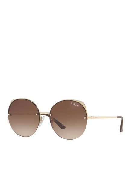 VOGUE Sonnenbrille 0VO4081S, Farbe: 848/13 - GOLD/ BRAUN VERLAUF (Bild 1)