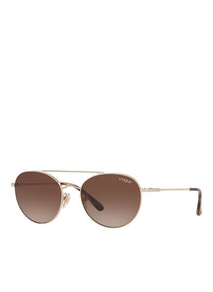 VOGUE Sonnenbrille 0VO4129S, Farbe: 848/13 - GOLD/ BRAUN VERLAUF (Bild 1)