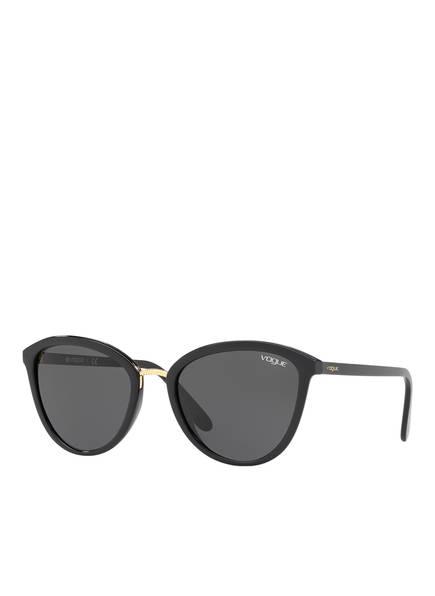 VOGUE Sonnenbrille 0VO5270S, Farbe: W44/87 - SCHWARZ/ GOLD/ GRAU (Bild 1)
