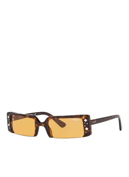 VOGUE Sonnenbrille 0VO5280SB mit Schmucksteinbesatz , Farbe: W656/7 - HAVANA/ ORANGE (Bild 1)