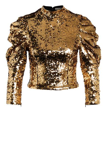 alice+olivia Cropped-Shirt BRENNA, Farbe: GOLD (Bild 1)