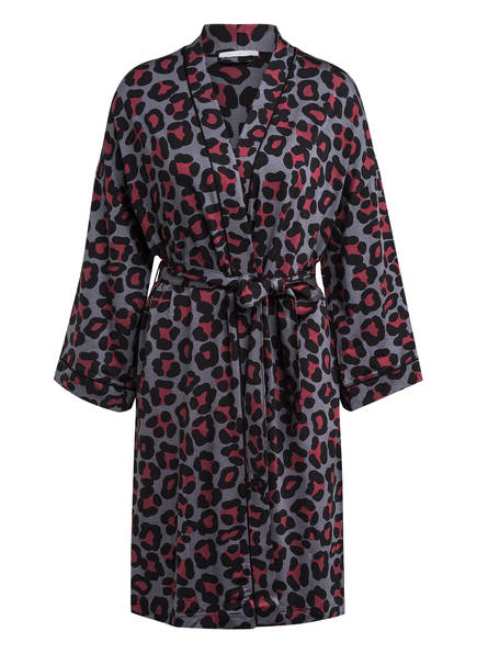mey Kimono LIVY mit 3/4-Arm, Farbe: GRAU/ DUNKELROT (Bild 1)
