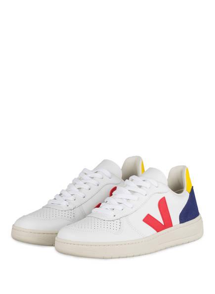 VEJA Sneaker V-10, Farbe: WEISS/ ROT/ BLAU (Bild 1)