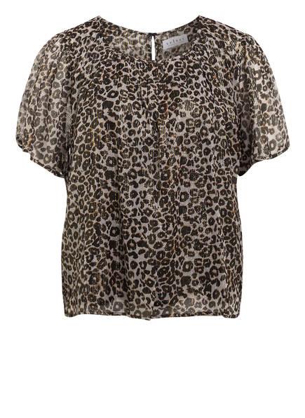 velvet Blusenshirt ARIANNA , Farbe: ECRU/ SCHWARZ/ DUNKELGELB (Bild 1)