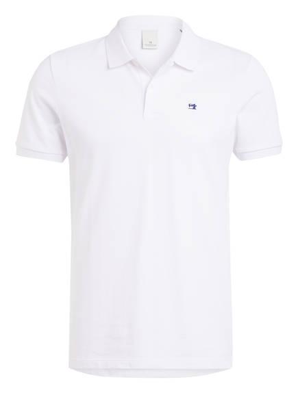 SCOTCH & SODA Piqué-Poloshirt, Farbe: WEISS (Bild 1)