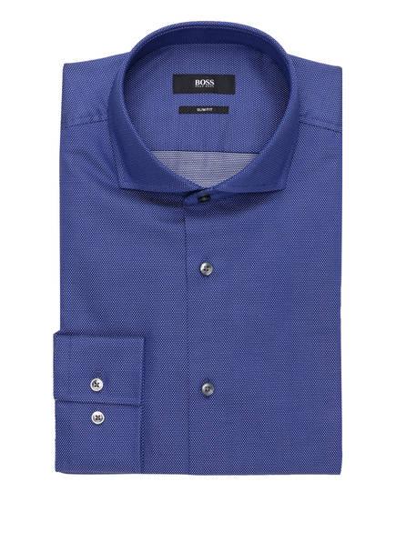 BOSS Hemd JASON Slim Fit, Farbe: DUNKELBLAU/ WEISS  (Bild 1)