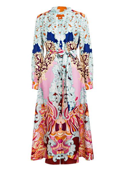 Mrs & HUGS Hemdblusenkleid aus Seide, Farbe: HELLROSA/ MINT/ WEISS (Bild 1)