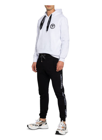 CARLO COLUCCI Hoodie WEISS - Herrenbekleidung Beliebt