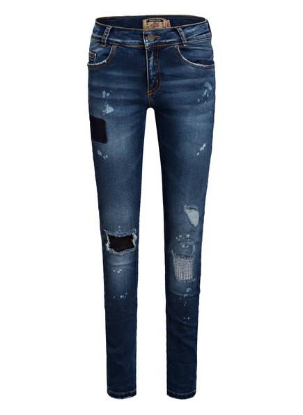 BLUE EFFECT Skinny-Jeans Slim Fit, Farbe: 9589 MEDIUM BLUE DESTR. (Bild 1)