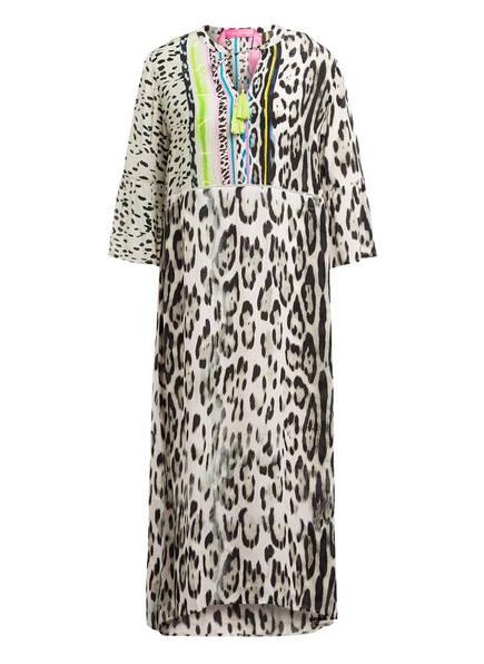 yippie hippie Strandkleid mit 3/4-Arm, Farbe: SCHWARZ/ GELB (Bild 1)