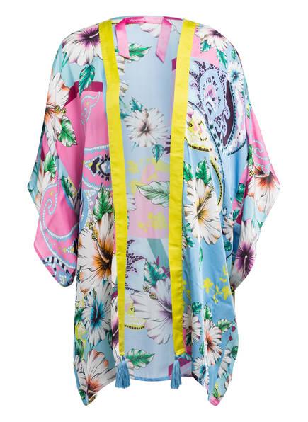 yippie hippie Kimono, Farbe: HELLBLAU/ PINK/ GELB (Bild 1)