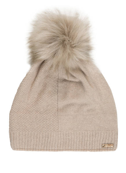 CAPO Cashmere-Mütze SPLIT, Farbe: BEIGE (Bild 1)