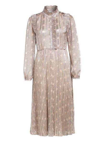 ba&sh Kleid PARIS , Farbe: BEIGE/ ORANGE/ DUNKELBLAU (Bild 1)