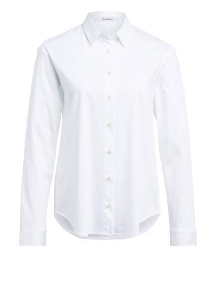 Soluzione Hemdbluse aus Jersey, Farbe: WEISS (Bild 1)