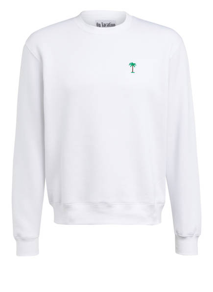 On Vacation Sweatshirt PALMS, Farbe: WEISS (Bild 1)