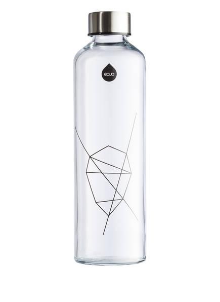 equa Trinkflasche MISMATCH BLACK, Farbe: TRANSPARENT/ SILBER (Bild 1)
