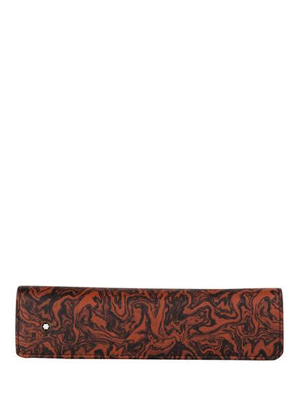 MONTBLANC Lederetui SARTORIAL, Farbe: DUNKELORANGE/ SCHWARZ (Bild 1)