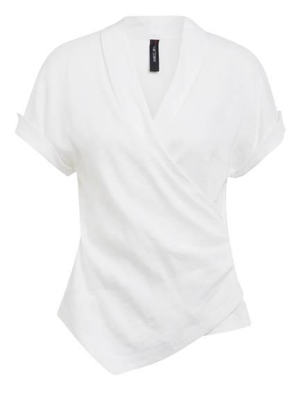 MARCCAIN Blusenshirt mit Leinen, Farbe: 110 OFFWHITE (Bild 1)