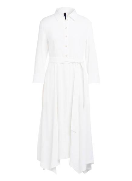 MARCCAIN Hemdblusenkleid mit Leinen, Farbe: 110 OFFWHITE (Bild 1)