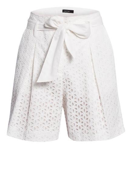 MARCCAIN Paperbag-Shorts aus Lochspitze, Farbe: 110 OFFWHITE (Bild 1)