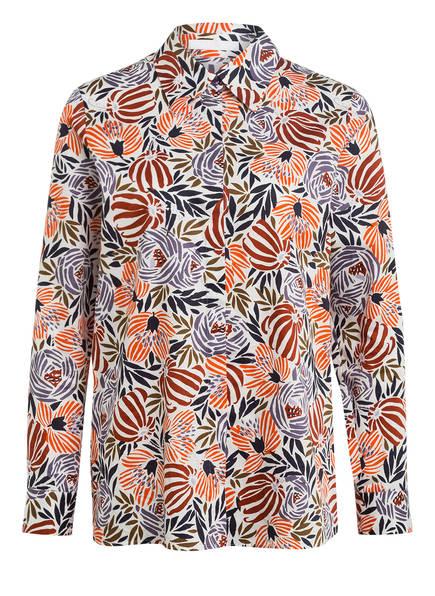 BOSS Bluse BERIGA, Farbe: WEISS/ ORANGE/ DUNKELBLAU (Bild 1)