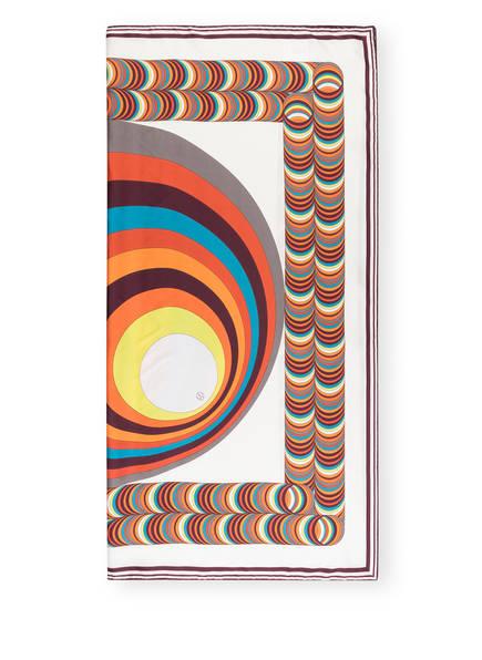 windsor. Seidentuch, Farbe: WEISS/ ORANGE/ NEONGELB (Bild 1)