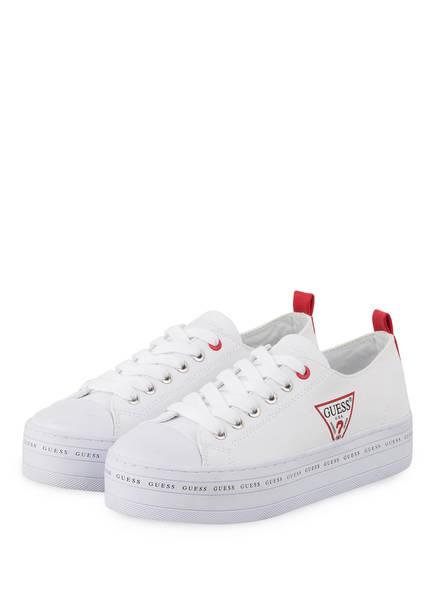 GUESS Plateau-Sneaker BRIG, Farbe: WEISS (Bild 1)