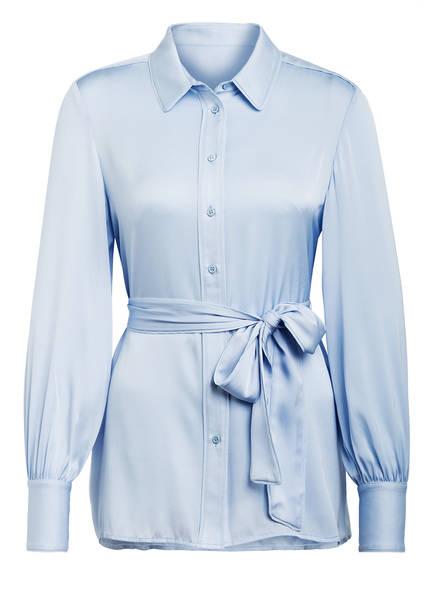 Mrs & HUGS Hemdbluse aus Seide , Farbe: HELLBLAU (Bild 1)