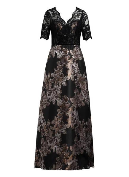 ADRIANNA PAPELL Abendkleid mit Glitzergarn, Farbe: SCHWARZ/ DUNKELBRAUN/ SILBER (Bild 1)