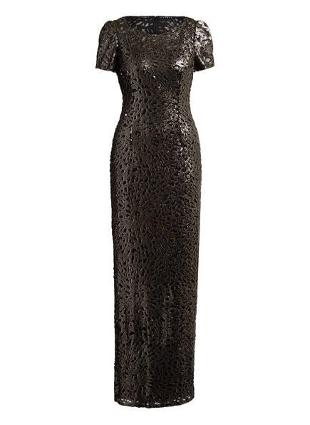 ADRIANNA PAPELL Abendkleid mit Paillettenbesatz, Farbe: SCHWARZ/ GOLD (Bild 1)