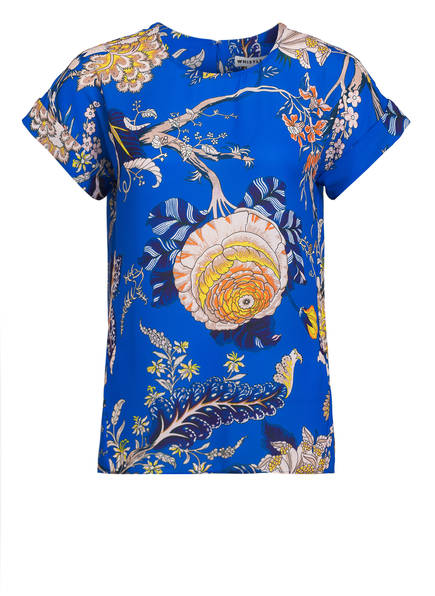 WHISTLES Blusenshirt, Farbe: BLAU/ HELLBEIGE/ DUNKELLILA  (Bild 1)