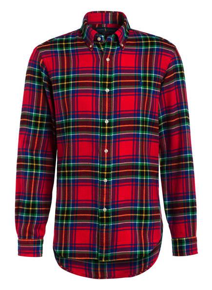 POLO RALPH LAUREN Flanellhemd Custom Fit, Farbe: ROT/ BLAU/ GRÜN KARIERT (Bild 1)