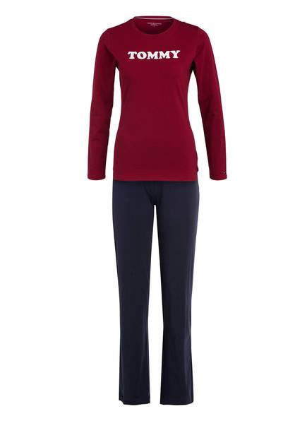 TOMMY HILFIGER Schlafanzug, Farbe: DUNKELROT/ DUNKELBLAU (Bild 1)