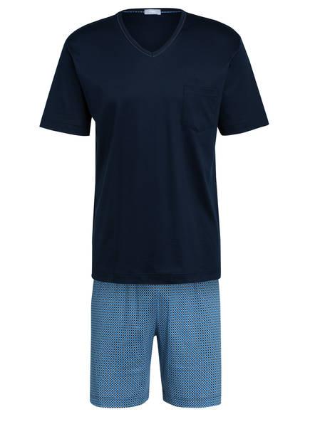 mey Shorty-Schlafanzug , Farbe: DUNKELBLAU/ BLAU (Bild 1)