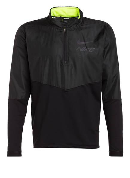 Nike Hybrid-Laufshirt DRI-FIT, Farbe: SCHWARZ (Bild 1)