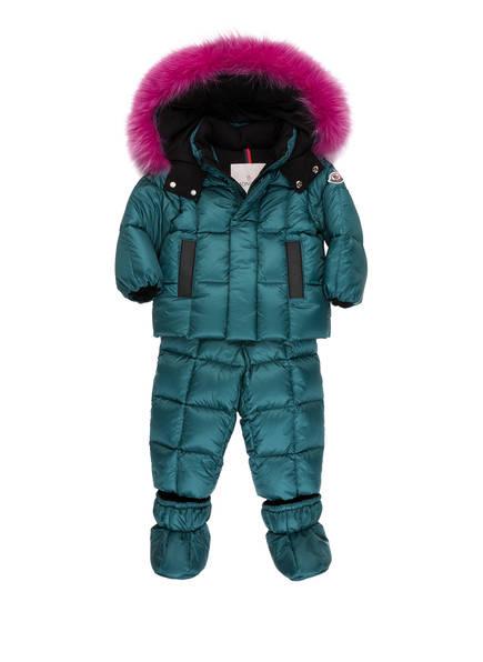 MONCLER Schneeanzug , Farbe: PETROL/  PINK (Bild 1)
