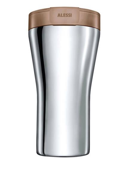 ALESSI Thermobecher CAFFA, Farbe: SILBER/ BRAUN (Bild 1)