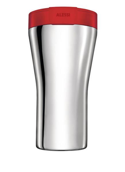ALESSI Thermobecher CAFFA, Farbe: SILBER/ ROT (Bild 1)