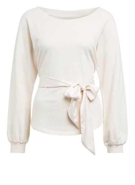 Juvia Sweatshirt mit Bindegürtel, Farbe: ECRU (Bild 1)