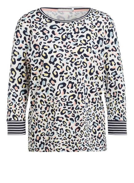 mey Lounge-Shirt FELICIA mit 3/4-Arm, Farbe: WEISS/ DUNKELBLAU/ GELB (Bild 1)