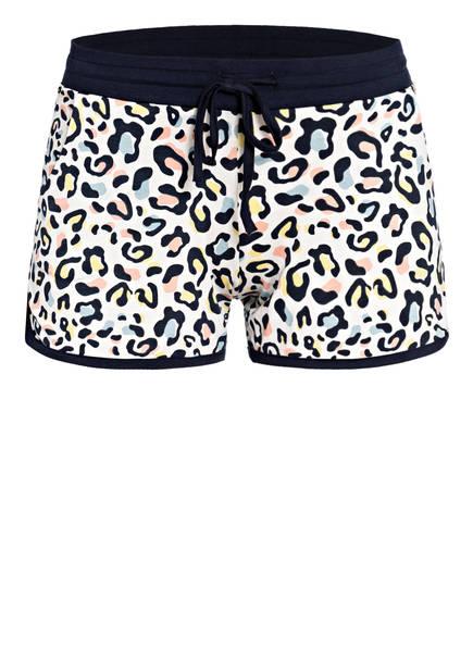 mey Lounge-Shorts Serie FELICIA, Farbe: WEISS/ DUNKELBLAU/ GELB (Bild 1)