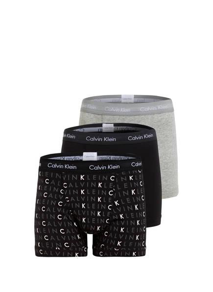 Calvin Klein 3er-Pack Boxershorts COTTON STRETCH , Farbe: SCHWARZ/ GRAU MELIERT (Bild 1)