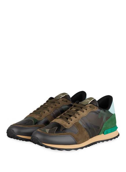 VALENTINO GARAVANI Sneaker ROCKRUNNER CAMOUFLAGE, Farbe: KHAKI/ DUNKELBRAUN/ GRÜN (Bild 1)