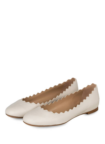 Chloé Ballerinas LAUREN, Farbe: CLOUDY WHITE (Bild 1)