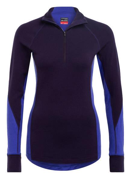 icebreaker Funktionswäsche-Shirt BODYFITZONE™ 260 ZONE aus Merinowolle, Farbe: DUNKELLILA (Bild 1)
