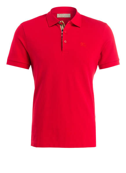 BURBERRY Piqué-Poloshirt HARTFORD, Farbe: ROT (Bild 1)