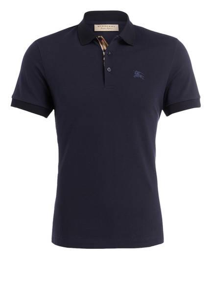 BURBERRY Piqué-Poloshirt HARTFORD, Farbe: DUNKELBLAU (Bild 1)