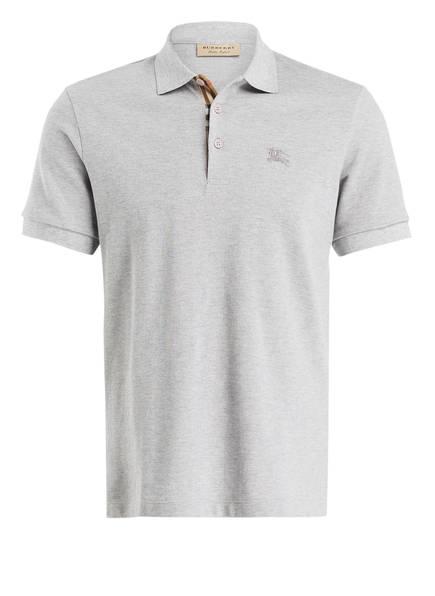 BURBERRY Piqué-Poloshirt HARTFORD, Farbe: GRAU MELIERT (Bild 1)