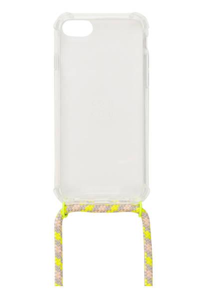 xouxou Smartphone-Hülle , Farbe: TRANSPARENT/ NEONGELB/ HELLGRAU (Bild 1)